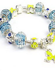 Women's Chain Bracelet Crystal Crystal Alloy Natural Fashion Circle Flower Snake Blue Jewelry 1pc