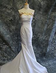 Inspiriert von Sailor Moon Princess Serenity Anime Cosplay Kostüme Cosplay Kostüme Kleider einfarbig Schleife Weiß Ärmellos Kleid Für Frau