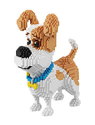 Toys For Gift  Building Blocks Model & Building Toy Dog Movie Character Plastic 14 Years & Up Ivory Toys