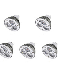 3W MR16 3 LED Spotlight 300-400 lm Warm White Cool White DC 12V 5 pcs