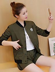 unterzeichnen 2017 Frühling und Herbst neue Frauen koreanische Baseballuniform Jackenärmel Shorts