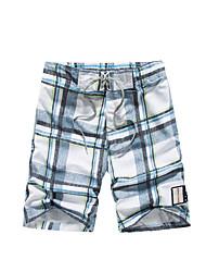 Hommes Grandes Tailles Ample Chino Short Pantalon,Bohème Actif Décontracté / Quotidien Plage Sportif Blocs de Couleur DamierTaille