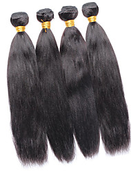 Vinsteen 8A Best Quality Peruvian Silky Human Hair Yaki Straight 4 Pieces Lot Natural Color Double Weft Human Hair Weaves No Tangle