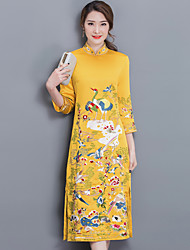 Sign in spring 2017 red bride toast clothing retro Slim improved cheongsam dress long section