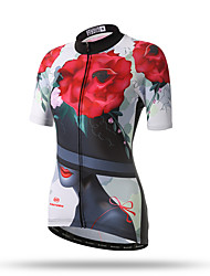 XINTOWN® Flower Women's Cycling Jerseys Short Sleeves T Shirts Xintown Team Cycling Clothing Sleeve Breathable Sportswear