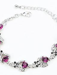 Feminino Pulseiras em Correntes e Ligações Cristal Natureza bijuterias Moda Cristal Liga Forma Redonda Jóias Para Festa Noivado