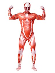 Cosplay Costumes Super Heroes Soldier/Warrior Movie Cosplay Red White Gray Print Leotard/Onesie Zentai CatsuitHalloween Christmas