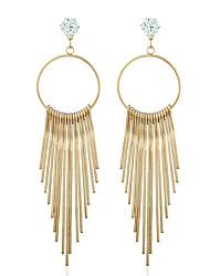 Diamond Stud Earrings Drop Earrings Jewelry Women Wedding Party Casual Zircon Silver Plated Gold Plated 1 pair Gold Silver