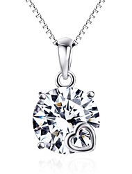 Pendants Crystal Sterling Silver Simulated Diamond Basic Silver Jewelry Daily Casual 1pc