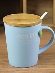 Minimalism Colored Drinkware, 200 ml Simple Geometric Pattern Ceramic Juice Milk Daily Drinkware