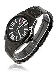 Men's Fashion Watch Quartz Rubber Band Black