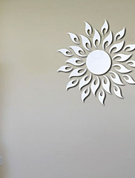 Sunflower crystal mirror wall stickers