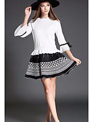 sinal camisola 2016 de moda nova queda magro era terno de saia pedaço fino