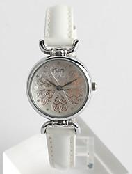Fashion Watch Quartz / PU Band Flower Casual White Brand