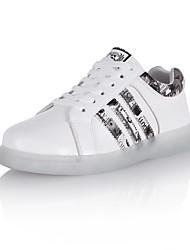 Extérieure Décontracté Sport-Blanc-Creepers-Light Up Chaussures-Baskets-Similicuir