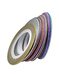 1set 11rolls Стикер искусства ногтя Фольга зачистки ленты макияж Косметические Ногтевой дизайн