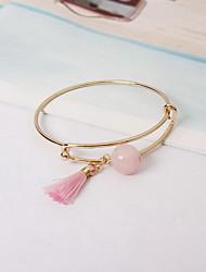 Bangles Imitation Pearl Alloy Fashion Jewelry Pink Jewelry 1pc