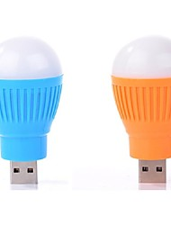 2PCS Mini Portable USB LED Light Lamp Bulb Computer Peripheral Gadget for Laptop PC Power Bank Notebook Saving Emergy USB Light(Ramdon Color)