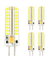 3w gy6.35 led bi-pin lights t 72 smd 2835 300-330 lm branco quente branco legal decorativo ac / dc 12 v 5 pcs