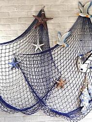 Wall Decor Linen Modern Wall Art Fishing Net Thick Line With Shells Random Color