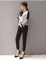 2017 spring new ladies temperament long-sleeved two-piece dress fashion casual harem pants spring tide