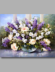Stretched Canvas Print Painting Canvas Wall Decor Home Decoration Abstract Modern Flowers Purple White