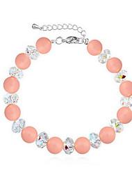 Women's Chain Bracelet Pearl Natural Circle White Light Purple Pink Jewelry 1pc