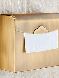 Copper Antique Paper Towel Rack Waterproof Paper Towel Box The Closed Toilet Paper Holder Bathroom Accessories