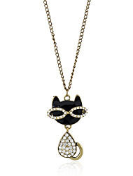 Necklace Diamond Pendant Necklaces Jewelry Party Casual Christmas Gifts Animal Shape Animal Design Euramerican Adorable Alloy Rhinestone
