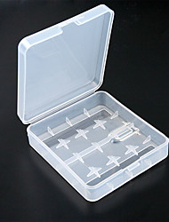 1pcs Battery Holder Plastic Transparent White 4 x 18650 Battery Case Holder Storage Box