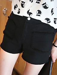 Dongguk Tür weißen Jeans-Shorts neue weibliche kleine frische minimalistischem Taillenhosen wilde