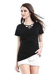 Women's Beach Boho Summer Blouse,Print Cowl Long Sleeve Blue Pink Black Polyester Medium