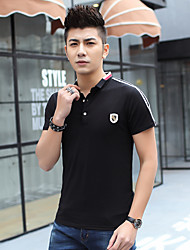 Men's 2017 summer lapel compassionate short-sleeve shirt Korean version of Slim short-sleeved polo shirt tide youth
