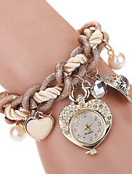 Women's Kids' Fashion Watch Wrist watch Bracelet Watch Quartz Imitation Diamond Rhinestone Alloy BandVintage Heart shape Bohemian Charm