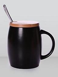 1pcs Minimalism Drinkware 425 ml Boyfriend Gift Girlfriend Gift Ceramic Coffee Milk Coffee Mug With Spoon Cover