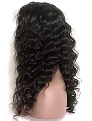Loose Wave 120% Density Lace Front Human Hair Wigs Indian Remy Hair Pre Plucked Natural Hairline With Baby Hair
