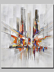 Hand Painted Modern Abstract City Streets Oil Painting On Canvas Wall Art Picture For Home Decoration Ready To Hang
