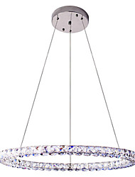 LED Ring Crystal Pendant Light Lighting Modern Indoor Ceiling Lights Lamp Fixtures D70CM 30W