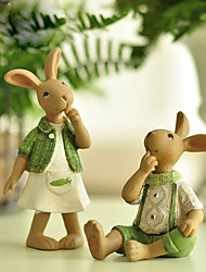 A Pair Of Animals Polyresin Modern/Contemporary CountryGifts Indoor Decorative Accessories Pastoral Style Decoration Decoration Decoration Rabbit