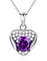 Pendants Crystal Crystal Simulated Diamond Basic Heart Purple Jewelry Daily Casual 1pc
