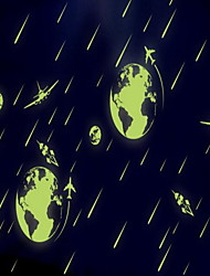 Cartoon Cosmic Meteor Shower Luminous Wall Stickers Vinyl Material Kid's Room Decoration
