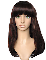 Synthetic Fiber Wig Long Straight Style Brown Women Costume Wigs Cosplay Wigs
