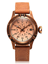 Women's Mechanical Watch Automatic self-winding Calendar Large Dial Genuine Leather Band Vintage Charm Brown Brown