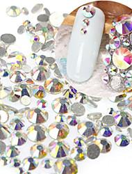 1Bag 400-500pcs SS3-SS16 Mixed Size Nail AB Rhinestone New Nail Art Glitter Sparkling Shiny Rhinestone Nail Art Bling Bling Decoration Rhinestone