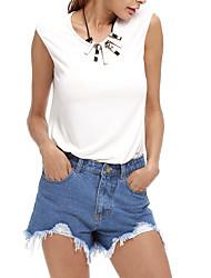 знак джинсы шорты женщин большого размера в Европе и Америке рыхлых заусенцев Амазонке EBay ALIExpress торговли
