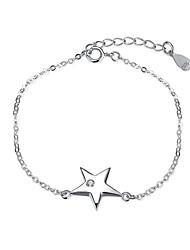 Bracelet Chaînes & Bracelets Argent sterling Forme d'Etoile Mode Mariage Soirée Occasion spéciale Anniversaire Fiançailles Bijoux Cadeau