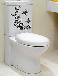 Cartoon Abstract Wall Stickers Plane Wall Stickers Decorative Wall Stickers Toilet Stickers,Paper Material Home Decoration Wall Decal