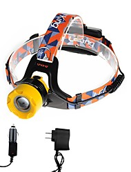 U'King ZQ-X8001BYellow-EU CREE T6 2000LM LED Headlamps Kits 3 Mode Adjustable Focus Zoomable