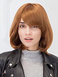 castaño rojizo color de cabello natural, sin tapa recta peluca de cabello humano peinado bob para las niñas y las mujeres 2017