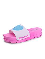 chinelos&flip-flops do verão slingback pvc ocasional pé calcanhar plana